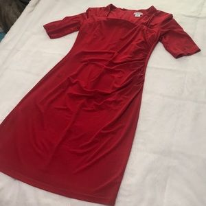 Red Liz Claiborne Dress Size 10